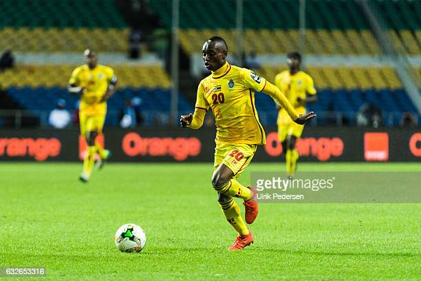 Khama Billiat of Zimbabwe during the African Nations Cup match between Zimbabwe and Tunisia on January 23 2017 in Libreville Gabon