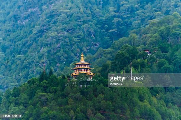 khamsum yulley namgyal chorten in the himalayas, punakha, bhutan - プナカ ストックフォトと画像