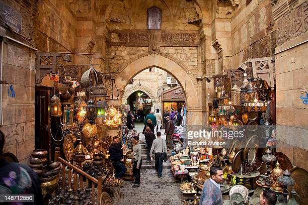 khan al-khalili (great bazaar). - egyptian artifacts stock pictures, royalty-free photos & images