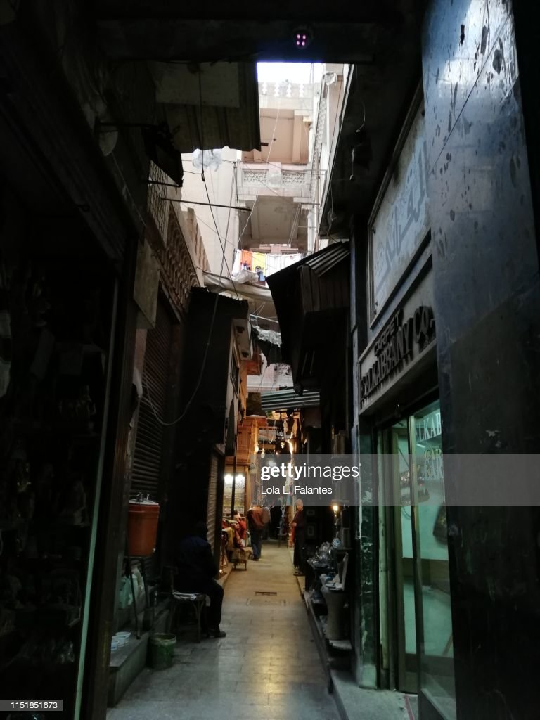 Khan El-Khalili bazaar : Foto de stock