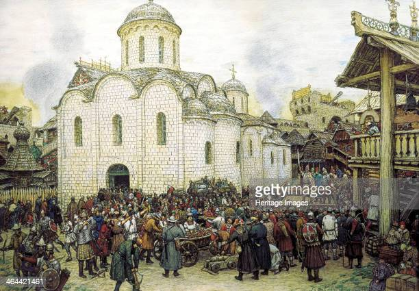 'Khan Tokhtamysh's invasion of Moscow in 1382' 1918 Tokhtamysh was a Mongol ruler who led the Golden Horde's military invasion of Russia in 1382...