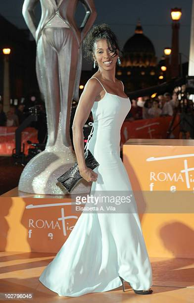 Khandi Alexander arrives at the Roma Fiction Fest 2010 Ceremony Awards at Auditorium Conciliazione on July 10 2010 in Rome Italy
