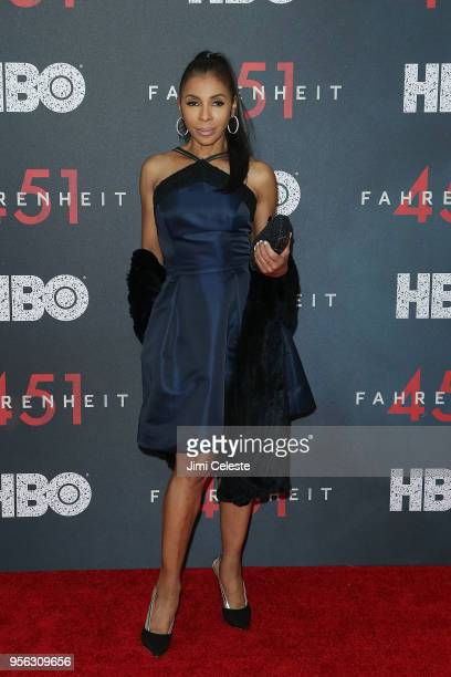 Khandi Alexander attends the New York premiere of Farenheit 451 at NYU Skirball Center on May 8 2018 in New York New York