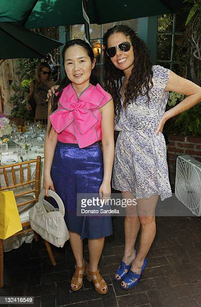 Khanh Tran and Karen Levy attend Jo De Mer Lunch Hosted By Alexandra von Furstenberg at Il Cielo on June 30, 2011 in Beverly Hills, California.