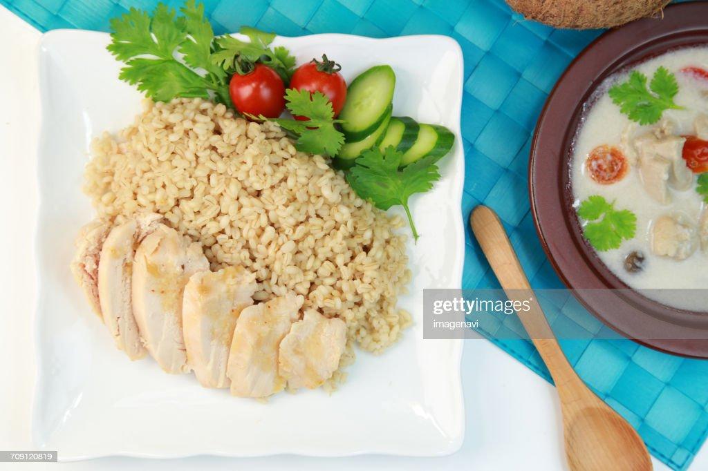 Khao Man Kai (chicken and Rice) : ストックフォト