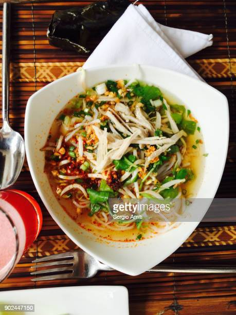 Khao Pun, Laos fresh rice noodles soup