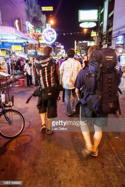 khao san road backpackers - san stock pictures, royalty-free photos & images