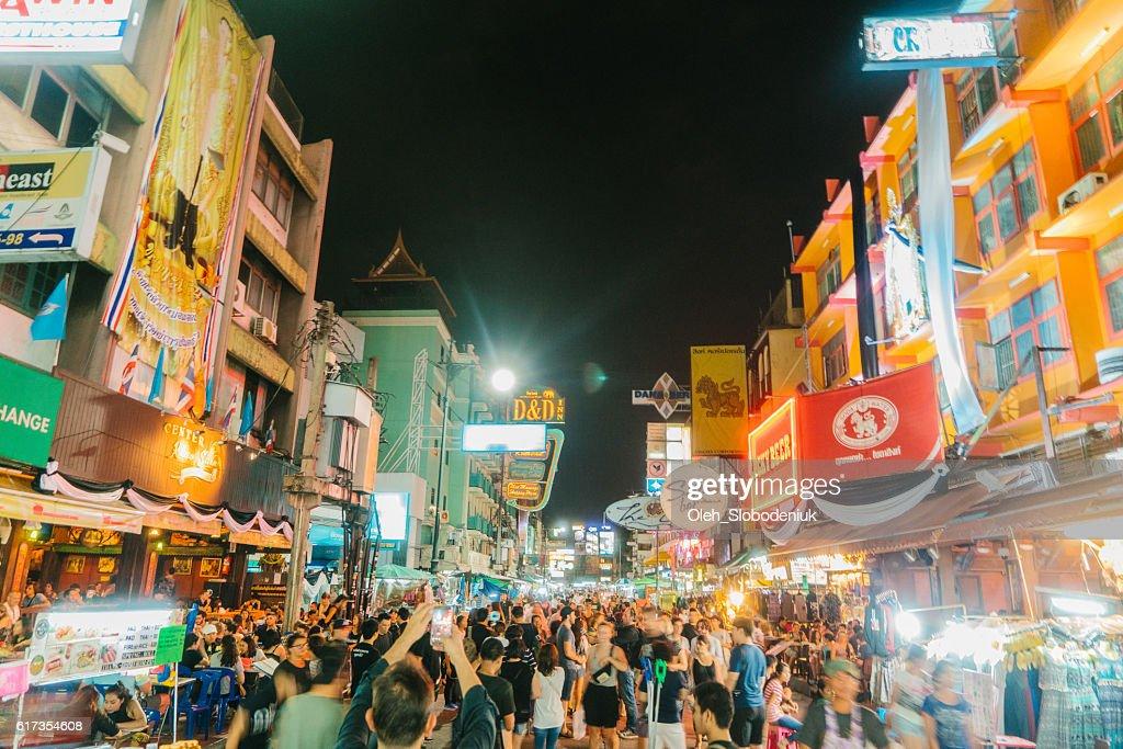 Khao San Road  in Bangkok : Stock Photo