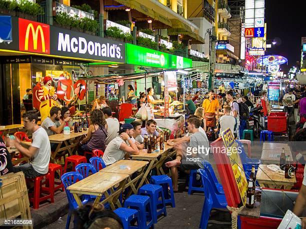 Khaosan Road à Bangkok, Thaïlande