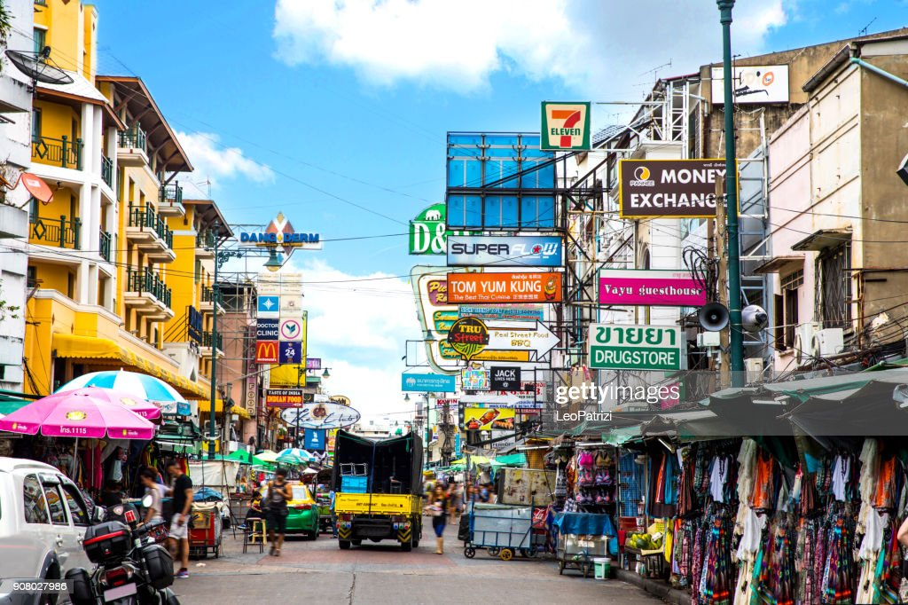 Khao San Road in Bangkok - Thailand : Stock Photo