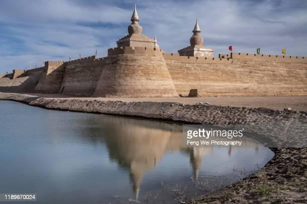 khara-khoto (black city) ruins,  ejina banner, inner mongolia, china - 内モンゴル自治区 ストックフォトと画像