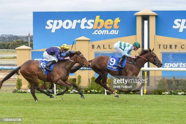 Khartoum ridden by Fred W Kersley wins the Champions Estate BM78 Handicap at SportsbetBallarat Racecourse on November 24 2018 in Ballarat Australia