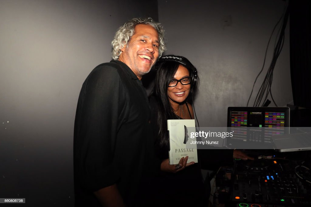 Khary Lazarre-White and Beverly Bond attend the Khary Lazarre White 'Passage' Book Release Party at Beautique on October 12, 2017 in New York City.