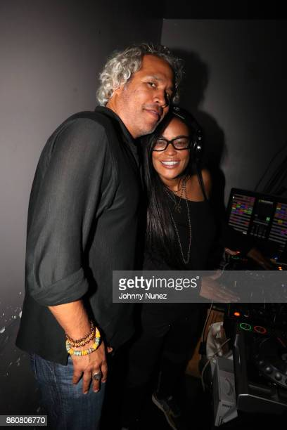Khary LazarreWhite and Beverly Bond attend the Khary Lazarre White 'Passage' Book Release Party at Beautique on October 12 2017 in New York City