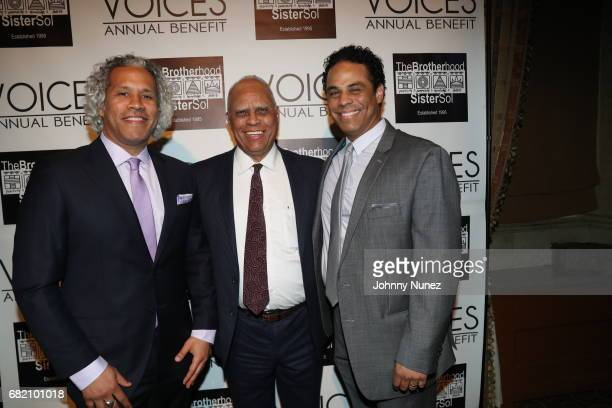 Khary LazarreWhite Douglas Lazarre and Adam LazarreWhite 2017 Brotherhood/Sister Sol Voices Gala at Gotham Hall on May 11 2017 in New York City