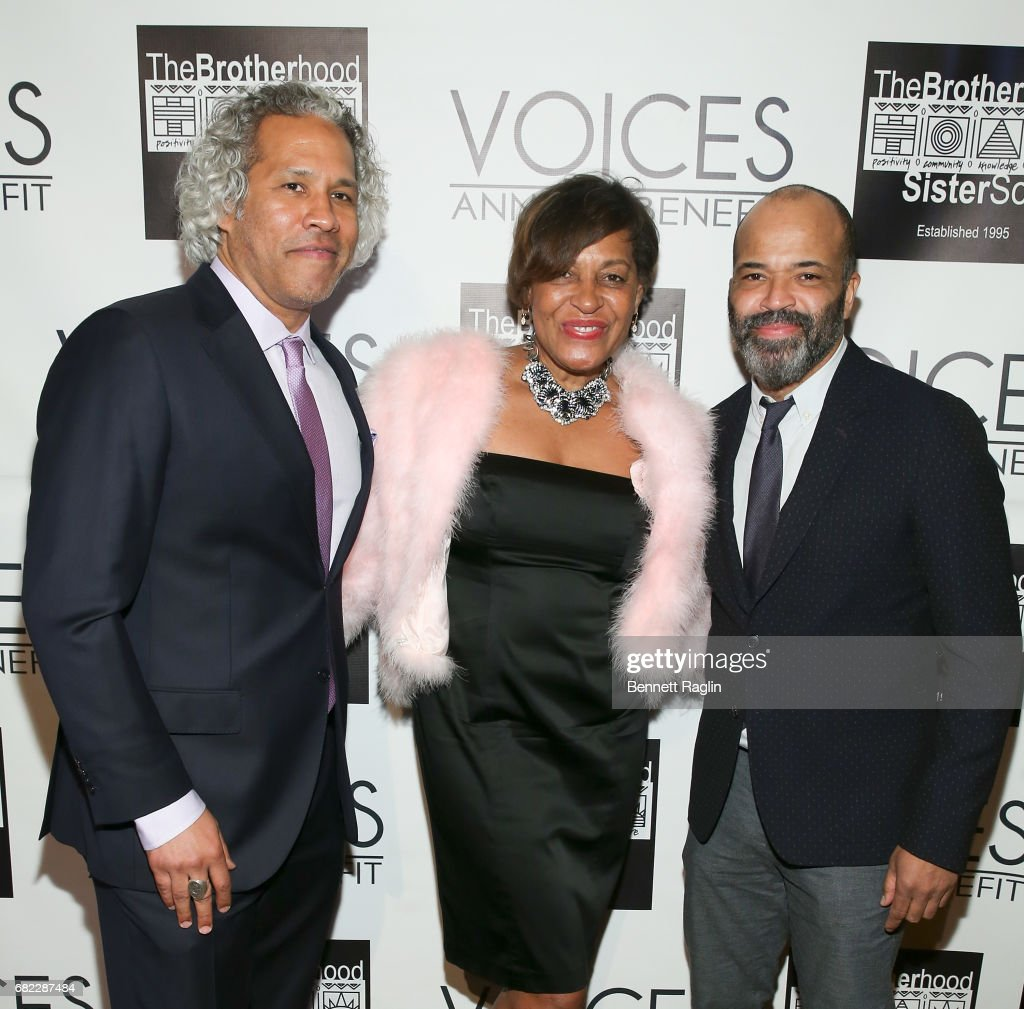 Khary Lazzarre-White, Carrie Mae Weems, and Jeffrey Wright attend the Brotherhood/Sister Sol 2017 Gala at Gotham Hall on May 11, 2017 in New York City.