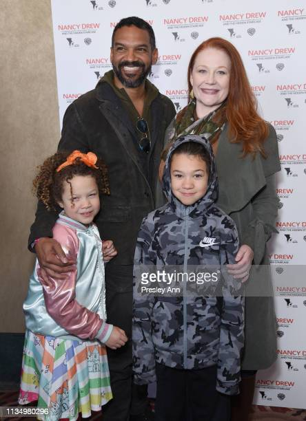 Khary Payton and family attends the red carpet premiere of 'Nancy Drew and the Hidden Staircase' at AMC Century City 15 on March 10 2019 in Century...