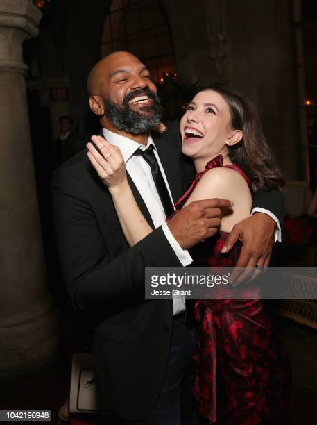 Khary Payton and Katelyn Nacon attend The Walking Dead Premiere and After Party on September 27 2018 in Los Angeles California