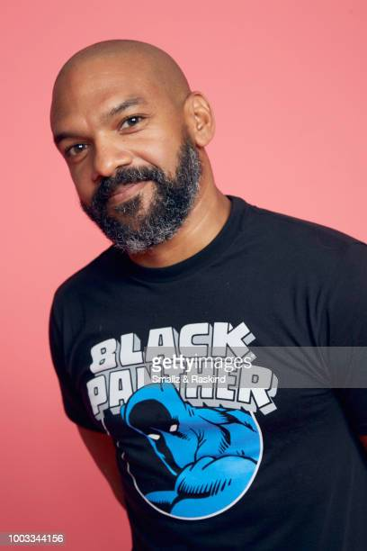 Khary Payton from Disney's 'Big Hero 6' poses for a portrait at the Getty Images Portrait Studio powered by Pizza Hut at San Diego 2018 Comic Con at...