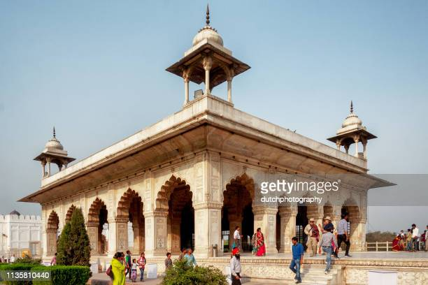 khas mahal at the red fort in delhi, india - agra fort stock pictures, royalty-free photos & images