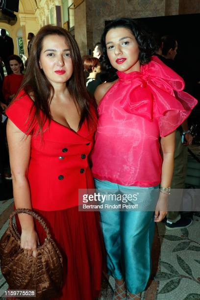 Khatia Buniatishvili and her sister attend the Giorgio Armani Prive Haute Couture Fall/Winter 2019 2020 show as part of Paris Fashion Week on July 02...