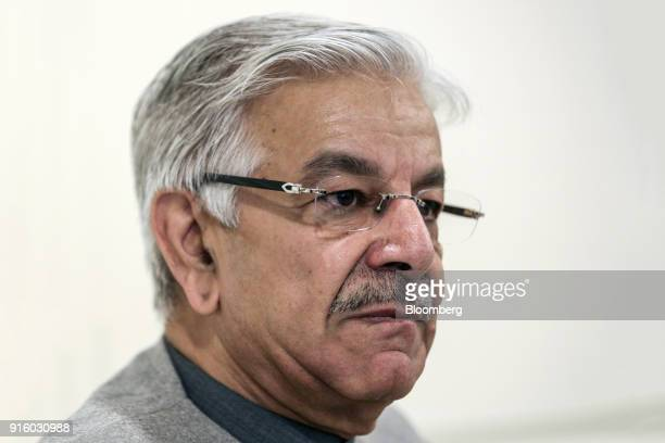 Khawaja Muhammad Asif Pakistan's foreign affairs minister listens during an interview in Islamabad Pakistan on Friday Feb 2 2018 Pakistan is pushing...