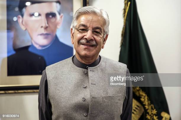 Khawaja Muhammad Asif Pakistan's foreign affairs minister stands for a photograph in Islamabad Pakistan on Friday Feb 2 2018 Pakistan is pushing for...