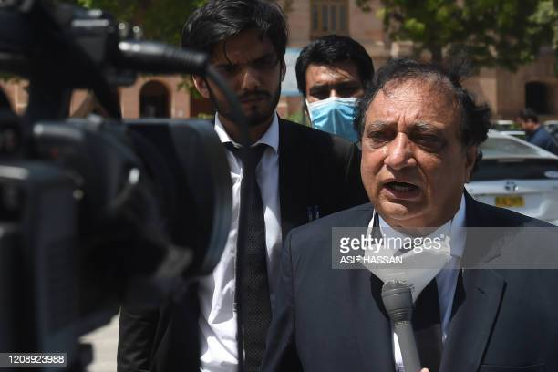 Khawja Naveed defence lawyer of Omar Sheikh who was convicted to death sentence over the killing of US journalist Daniel Pearl speaks to media...