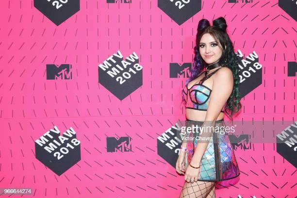 Khay attends the MTV MIAW Awards 2018 at Arena Ciudad de Mexico on June 2 2018 in Mexico City Mexico