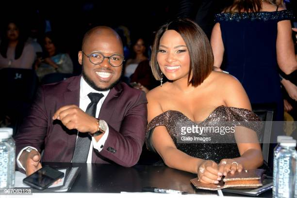 Khaya Dlanga and Siba Mtongana is a South African celebrity chef during the Miss SA 2018 beauty pageant grand finale at the Time Square Sun Arena on...