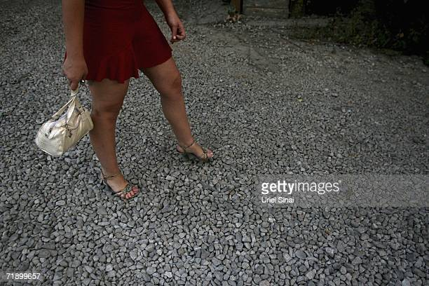 A Khazak prostitute outside a brothel August 10 2006 in Almaty in the central Asian country of Kazakhstan Fifteen years after the breakup of the...