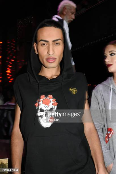 Kheireddine from les Anges Nrj12 walks the runway during 'Les Diamants de L'Orient' Nadia Toure Streetwear Fashion Show at VIP Room Theater Club on...
