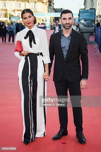 Kheiron and Leila Boumedjane attend the premiere of War On Everyone during the 42nd Deauville American Film Festival on September 8 2016 in Deauville...