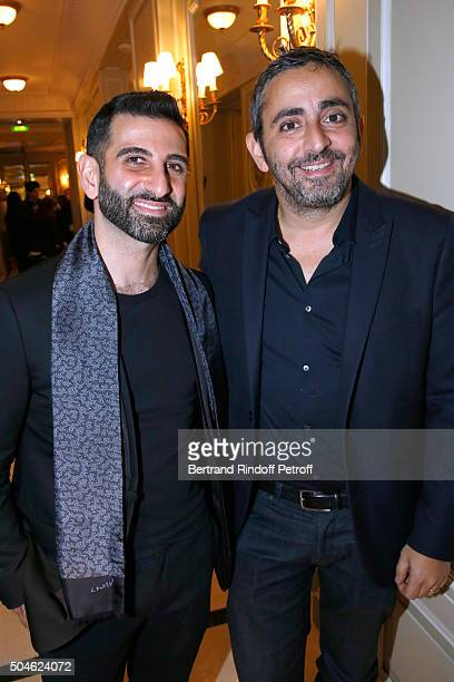 Kheiron nominated for his Movie 'Nous trois ou rien' and his sponsor Eric Toledano attend the 'Cesar Revelations 2016' Photocall at Chaumet followed...
