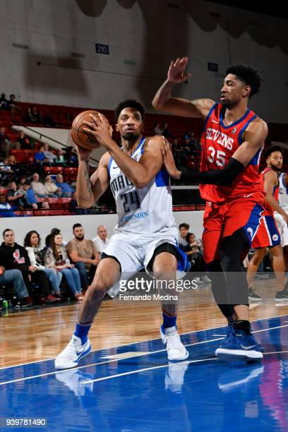Khem Birch of Lakeland Magic handles the ball against the Delaware 87ers handles the ball against the Delaware 87ers on March 23, 2018 at RP Funding...