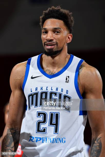 Khem Birch of Lakeland Magic looks on during the game against the Delaware 87ers on March 23 2018 at RP Funding Center in Lakeland Florida NOTE TO...