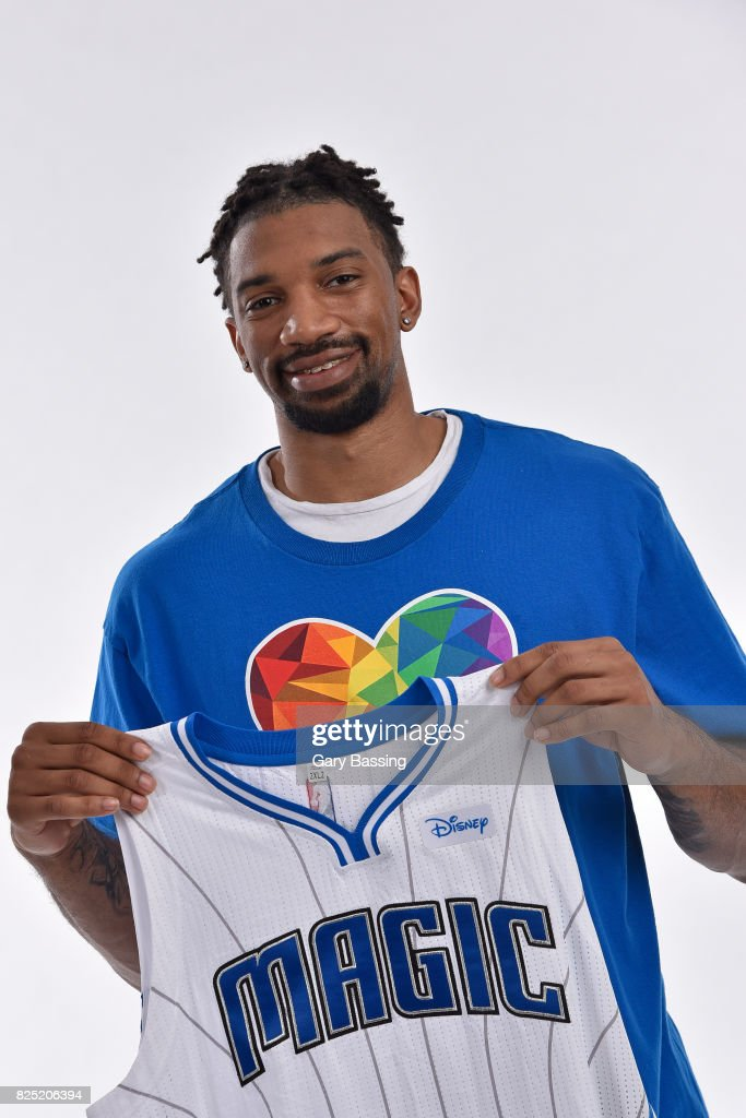 Khem Birch of the Orlando Magic poses for a portrait on July 27, 2017 at Amway Center in Orlando, Florida.