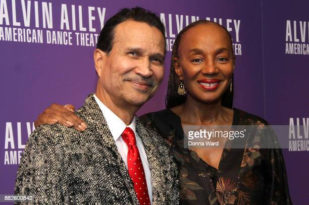 Khephra Burns and Susan L Taylor attend Alvin Ailey's 2017 Opening Night Gala at New York City Center on November 29 2017 in New York City
