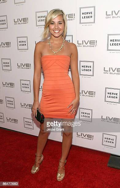 Kherington Payne attends the Herve Leger By Max Azaria Spring Collection Preview Party at Live On Sunset on May 6 2009 in West Hollywood California