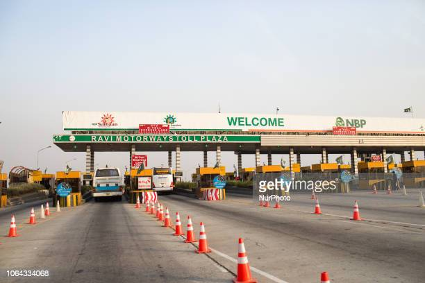 Khewra, Pakistan, 1 October 2018. A toll on the highway.