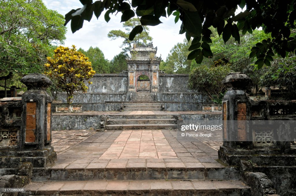 Khiem Tho tomb of the Empress Le Thien Anh at Tu Duc tomb, Hue, Vietnam : Stock Photo