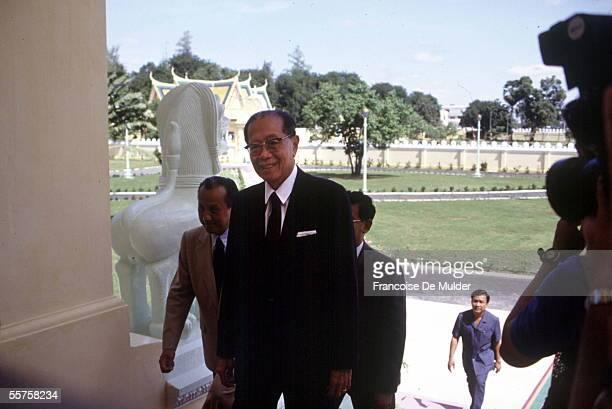 Khieu Samphan Cambodian statesman president of the Democtratic Republic of Kampuchea Cambodia November 1991