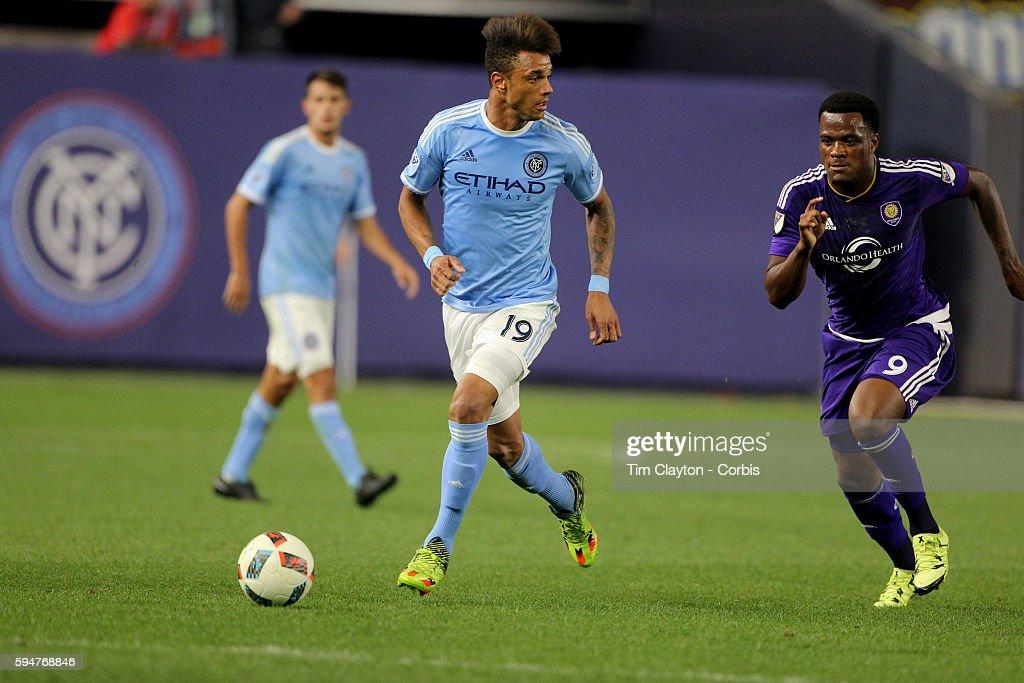 MSL. New York City FC Vs Orlando City, MSL regular season football match at Yankee Stadium, The Bron : News Photo