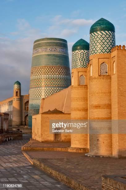 khiva, ichan kala - oezbekistan stockfoto's en -beelden