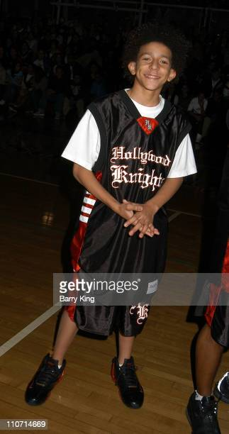 Khleo Thomas during Hollywood Knights Charity Basketball Game Bellflower at St John Bosco High School in Bellflower California United States