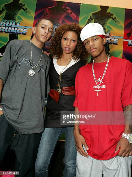 Khleo Thomas guest and Bow Wow during FoxSearchlight Pictures Present the Los Angeles Premiere of Roll Bounce After Party at The Bridge at Howard...