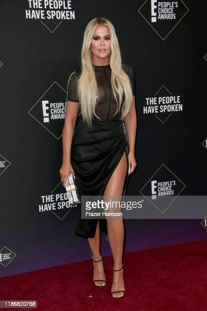 Khloé Kardashian attends the 2019 E! People's Choice Awards at Barker Hangar on November 10, 2019 in Santa Monica, California.