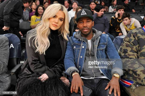 Khloe Kardashian And Agent Rich Paul Attend A Basketball Game Between The Los Angeles Lakers And
