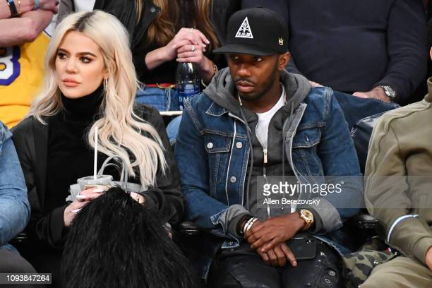 Khloe Kardashian and agent Rich Paul attend a basketball game between the Los Angeles Lakers and the Cleveland Cavaliers at Staples Center on January...