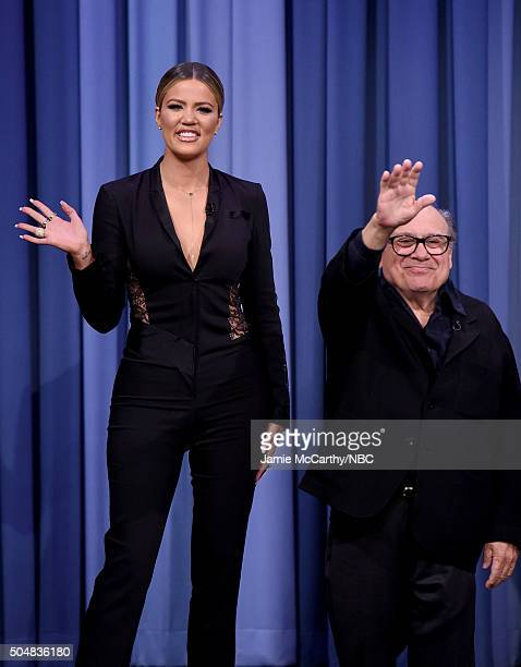 a3d18bc85daa4 Khloe Kardashian and Danny Devito during a segment on  The Tonight Show  Starring Jimmy Fallon